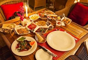 Traditional Rajasthani thali at the Pillars restaurant at Umaid Bhawan palace